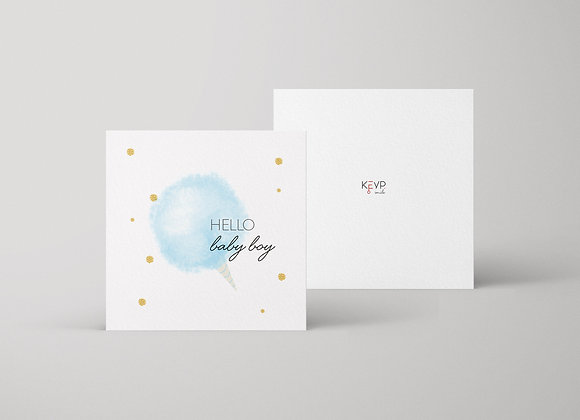 Hello Baby Boy Greeting Card