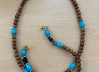 Turquoise & Black Beads Eye Glasses Chain