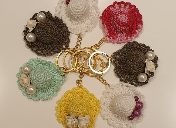 Crochet Hats Key Chains