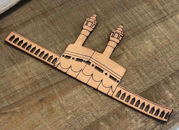 Leather Makkah Bookmark
