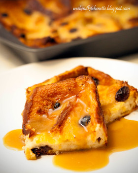 Old Fashioned Bread Pudding with Rum Vanilla Sauce