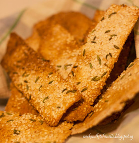 Sesame and Fennel Seeds Wholemeal Crackers