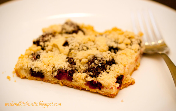 Blackberry Almond Crumb Squares
