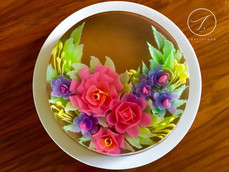 Roses and Fillers (3D Jelly Art)