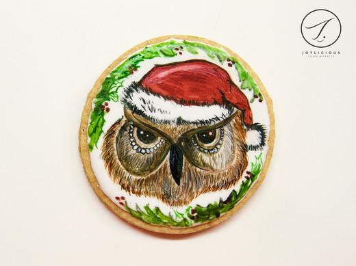 Christmas Owl Cookie