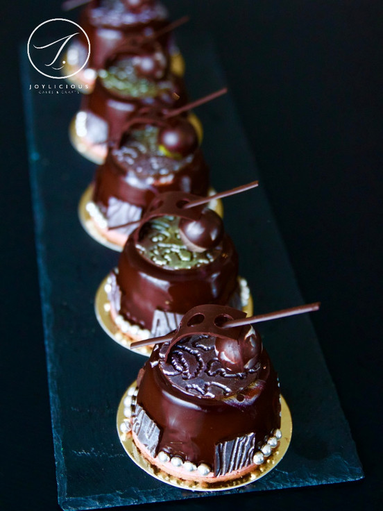Chocolate Entremet with Respberry