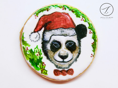 Christmas Panda Cookie