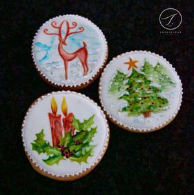 Hand Painted Xmas Cookies