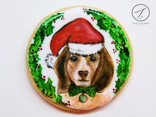 Christmas Dog Cookie