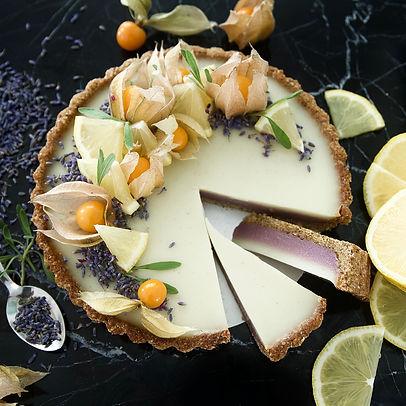 Gluten-Free Vegan Lavender Lemon Tart.jp
