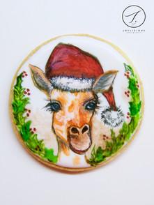 Christmas Giraffe Cookie
