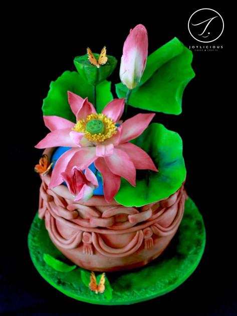 A Pot Of Lotus