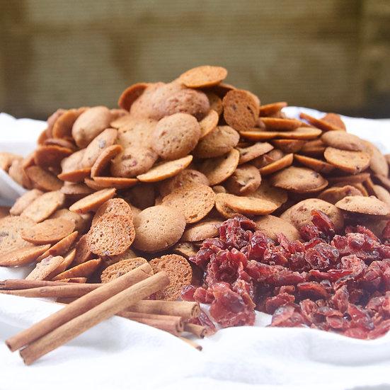Cinnamon-Cranberry (crunchy, bite-size)