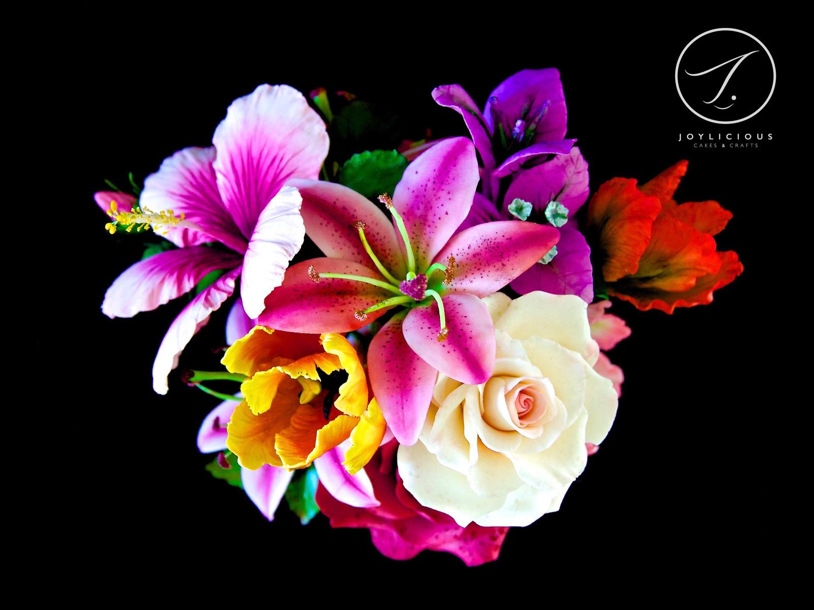 Sugar flowers joylicious cakes and crafts sugar assorted posy izmirmasajfo