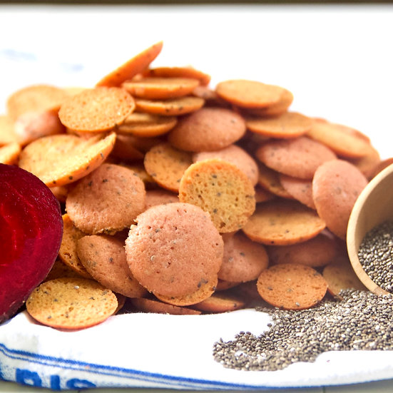 Beetroot Chia Seeds (crunchy, bite-size)