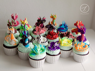 Baby Dragons Cupcakes