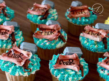 Thor Cupcakes
