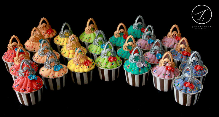 Rainbow Tiara Cupcakes