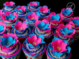 Pinky Blue Cupcakes