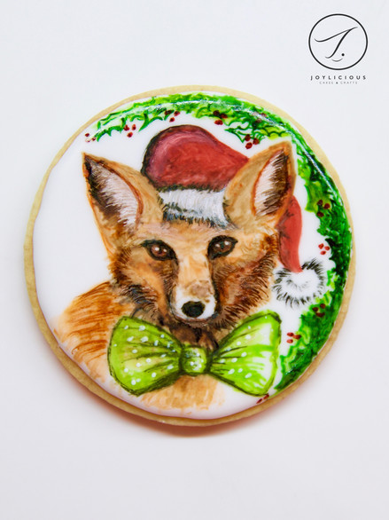 Christmas Fox Cookie