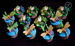 Butterfly & Dragonfly Cupcakes