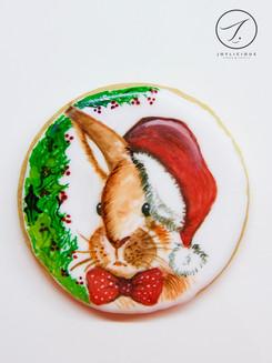 Christmas Bunny Cookie