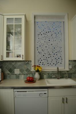 white linen kitchen curtains