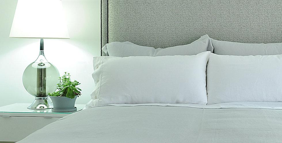 Medium grey luxury linen bedding king size