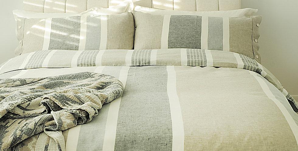 Natural linen bedding luxury set