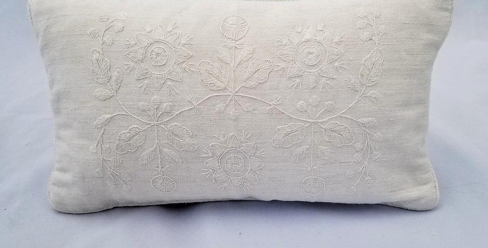 Hand Embroidered Vintage Linen Decorative Pillow Sonechko
