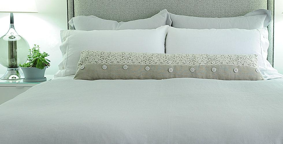 Light grey luxury linen flat sheet