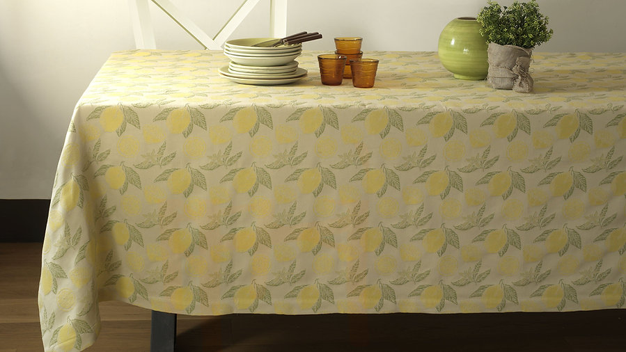 LIMONCELLO - TABLECLOTH Yellow _ Olive G
