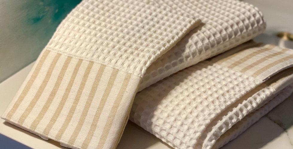 Italian made luxury waffle towel