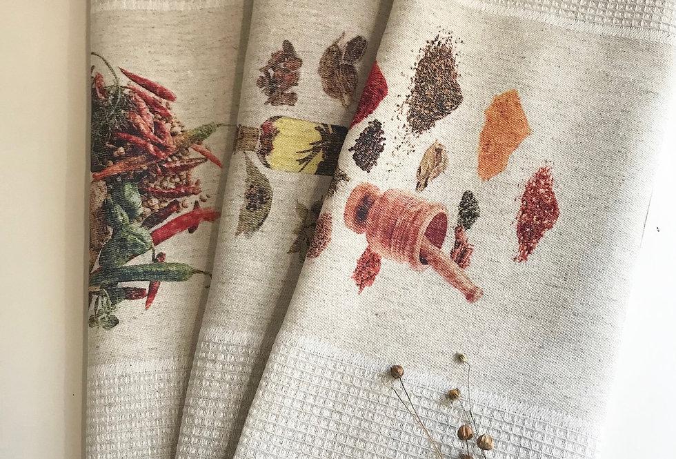 Best natural linen kitchen tea towels set