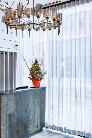 Project: Avli River North Restaurant Interior Design: Gold Coast Design Studio Photo Courtesy of: Stan Estate Photography  linen window treatments
