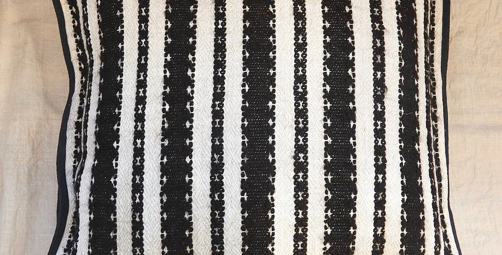 black and white hand sewing pillow