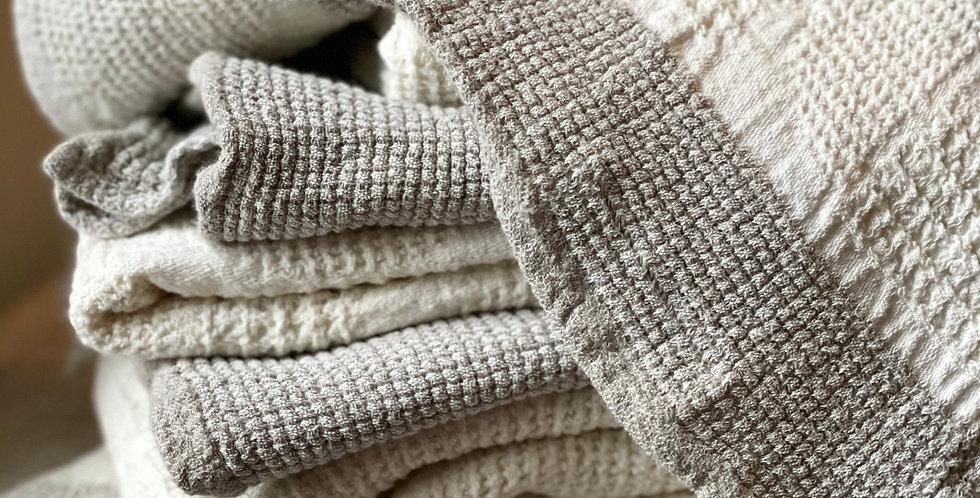 premium quality gray bath towels set