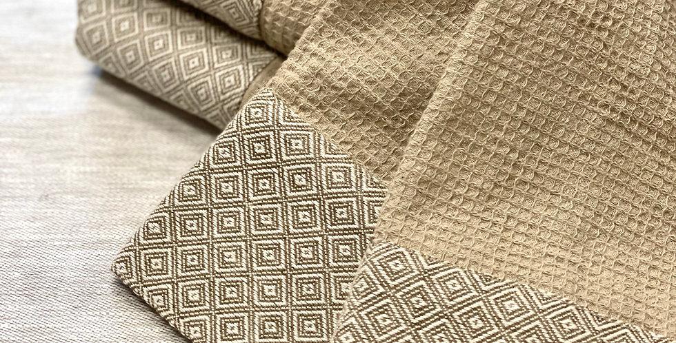 Luxury brown kitchen towel, brown color