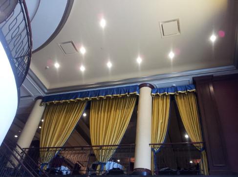 custom curtains in restaurant