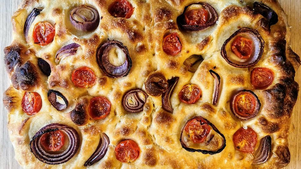 Sourdough Focaccia - Tomato & Red Onion