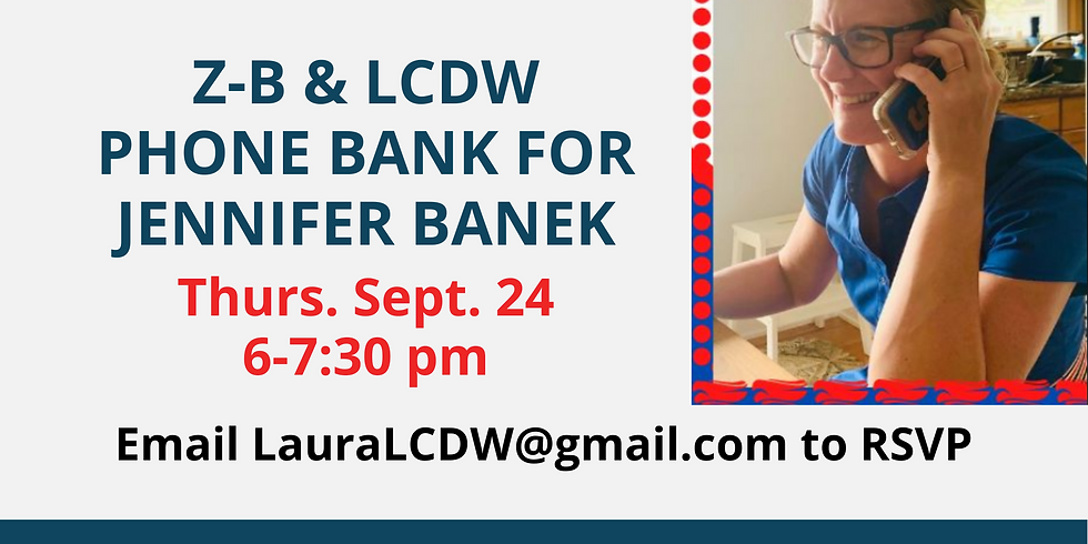 Phone Bank for Jen Banek (with Lake County Dem Women)