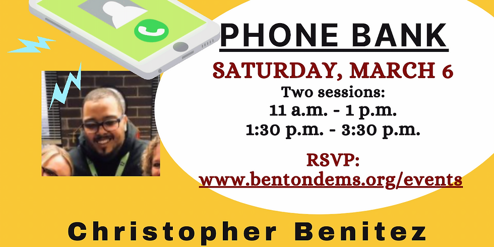 Phone Bank for Chris Benitez for ZBHS Board - March 6 (1:30-3:30)