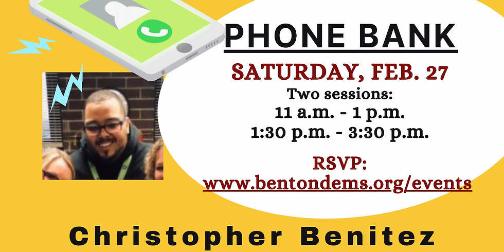 Phone Bank for Chris Benitez for ZBHS Board (1:30-3:30)
