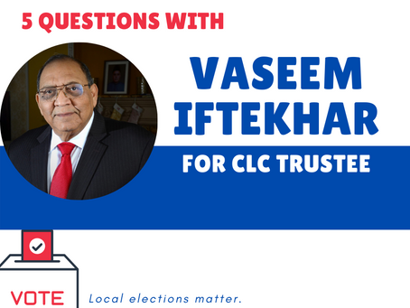 Who's on your ballot? Meet Vaseem Iftekhar