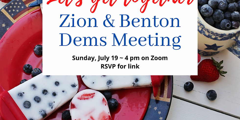 July Meeting, with Zion Dems!