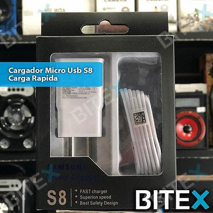 Cargador Micro USB S8 | Carga rápida