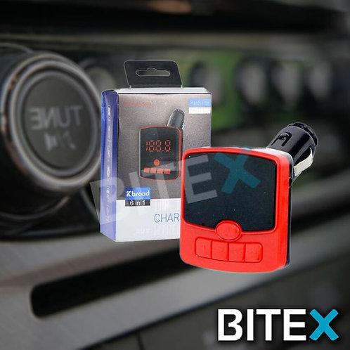 TRANSMISOR BT-USB-FM 6 EN 1 AUTO