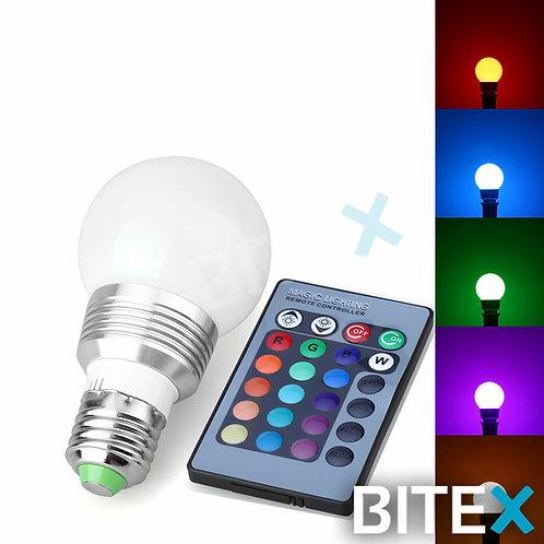 Lampara Led RGB con control 3W