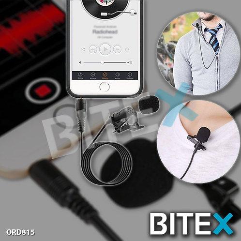 Micrófono Corbatero 1.5m Plug Celulares Metálico Anti Ruido
