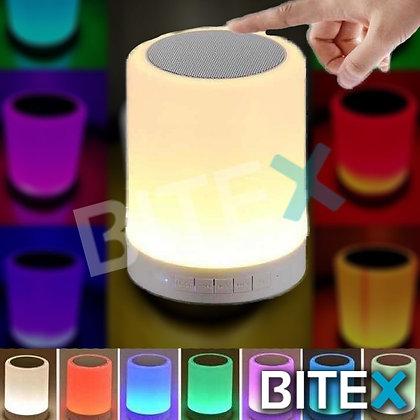 Parlante Bluetooth Portátil Lampara Velador Luz
